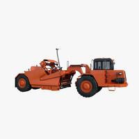 tractor scraper 3d model