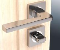 3d chrome door doorknob model