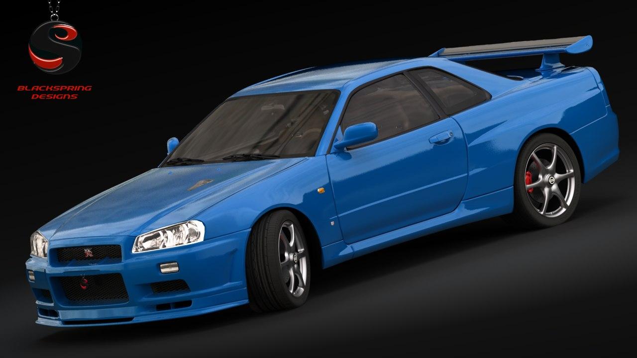 3d Nissan Skyline Gt R V Model Spec
