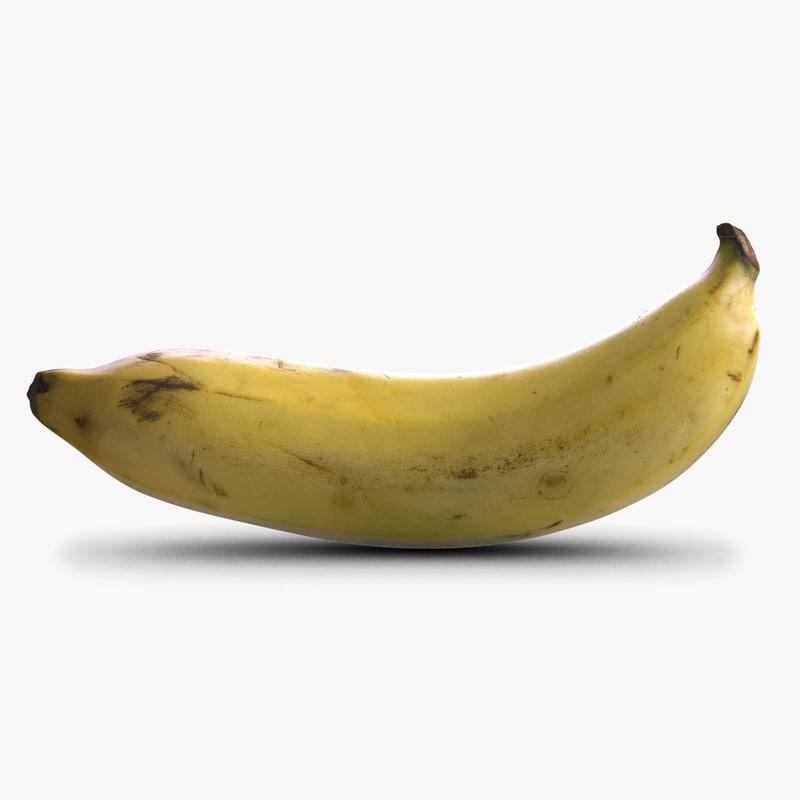 banana 2 3d max