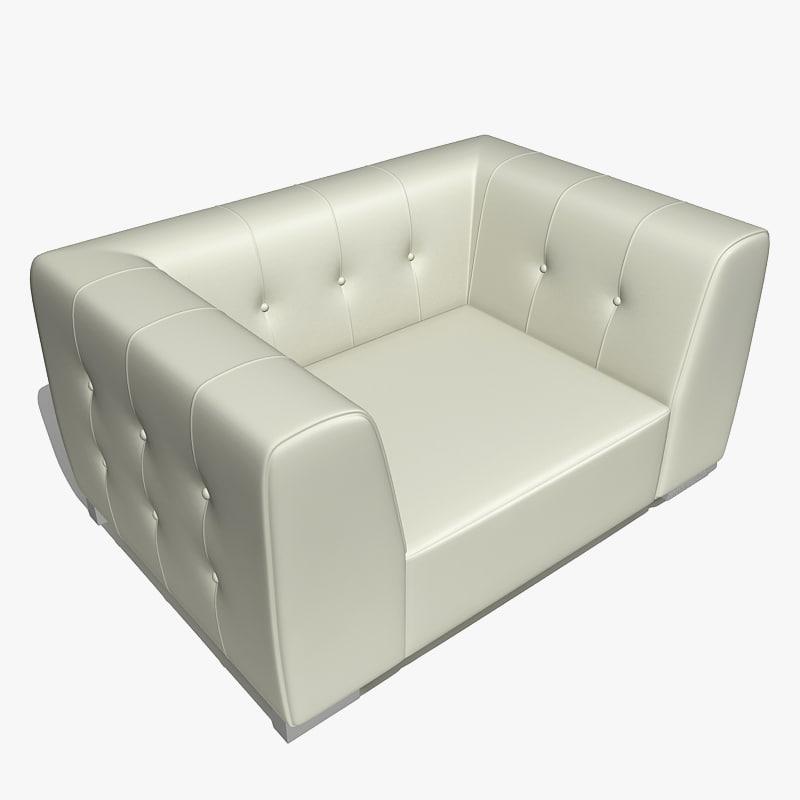 3d club armchair chair