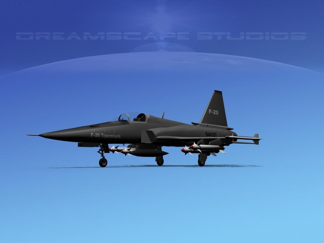 3d northrop tigershark f-20 fighter model