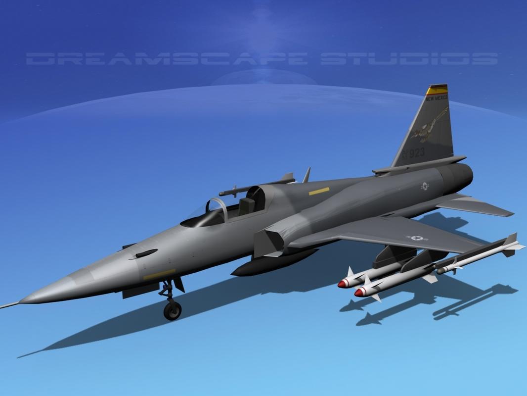3ds northrop tigershark f-20 fighter