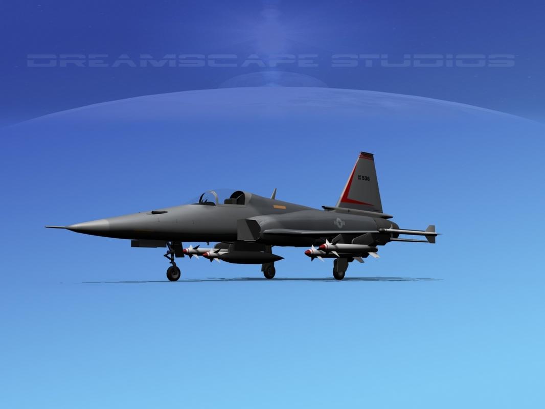 northrop tigershark f-20 fighter 3d 3ds