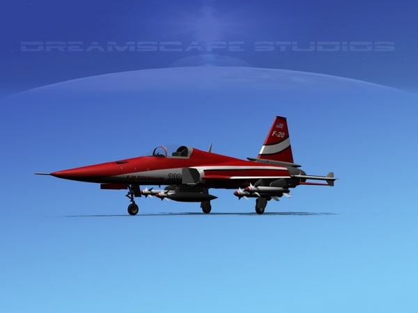 northrop tigershark f-20 fighter 3d model