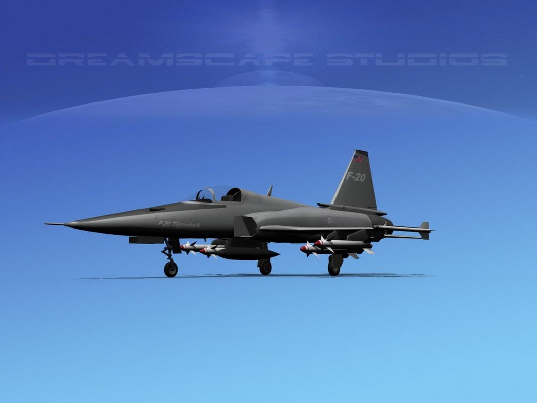 3d model northrop tigershark f-20 fighter