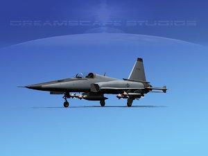 northrop tigershark f-20 fighter 3d model