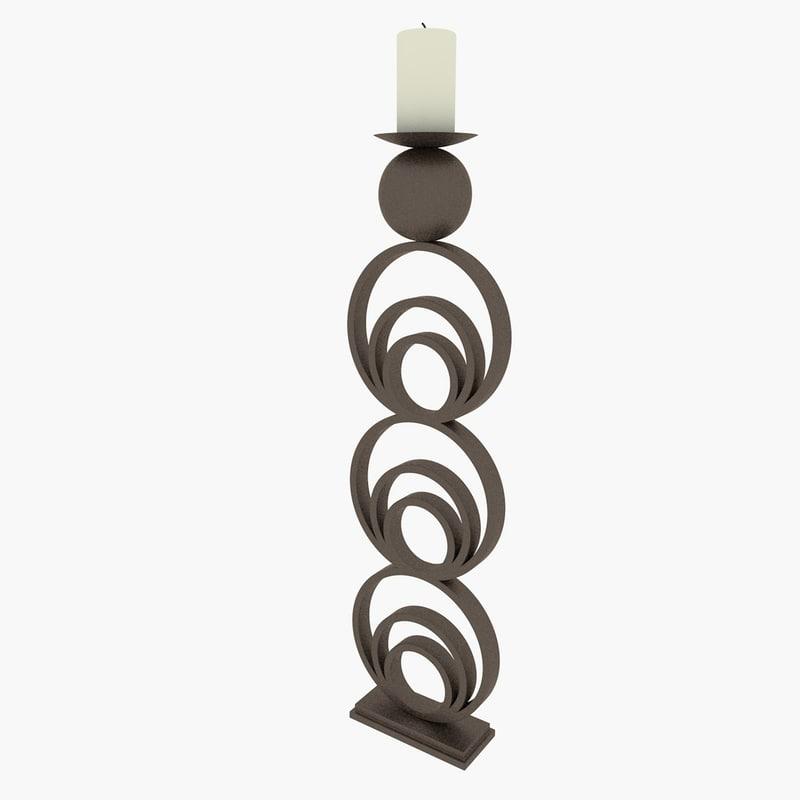 decoration candle 3d model