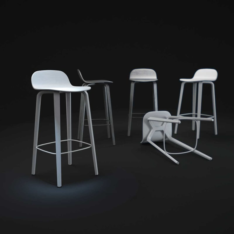 visu-bar-stool 3d max