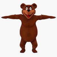3dsmax bear cartoon