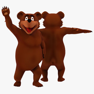 max cartoon bear rigged