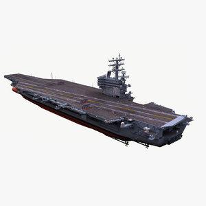 3d model uss ronald