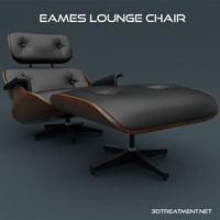 3d eames lounge chair