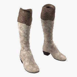 knee boots 3d 3ds