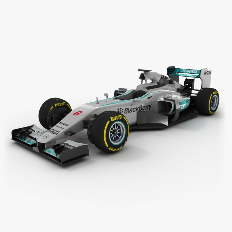 3d model of mercedes mgp w06 2015