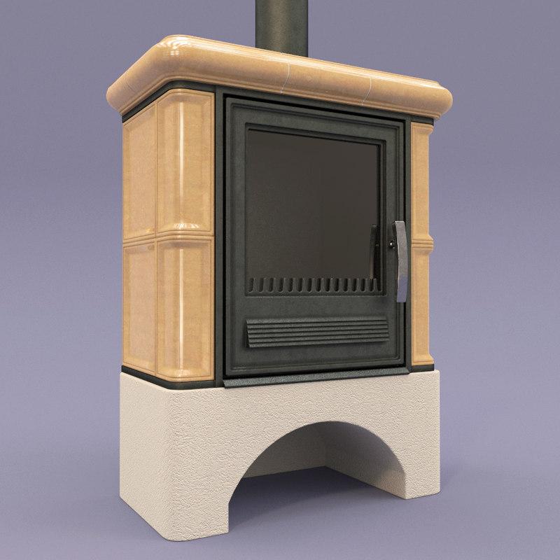 fireplace abx bavaria l 3d model
