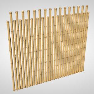 3d bamboo wall model