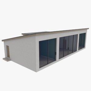 modernist house interior 3d model