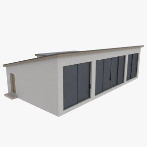 3d model of modernist house