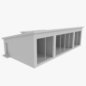 modernist house interior 3d 3ds