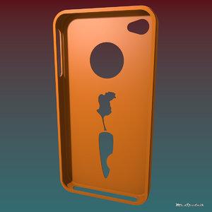 3d model iphone 4 case
