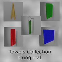 3d model hung towels collections