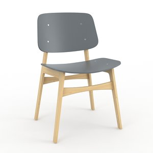3d model soborg chair fredericia furniture