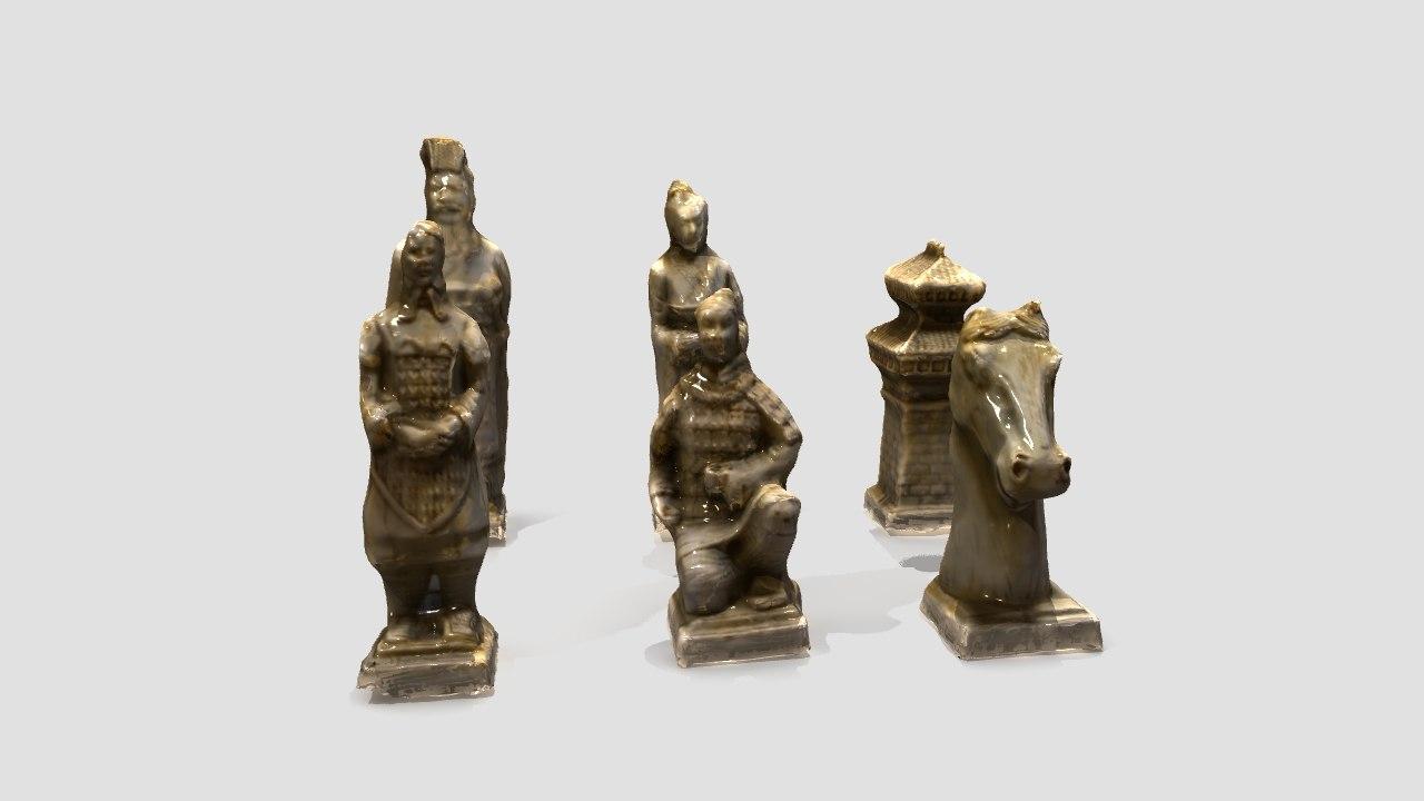 photometric chess pieces 3d obj