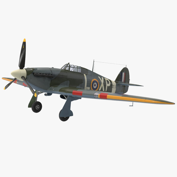 3d max hawker hurricane wwii fighter