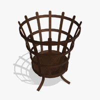 3d medieval brazier model