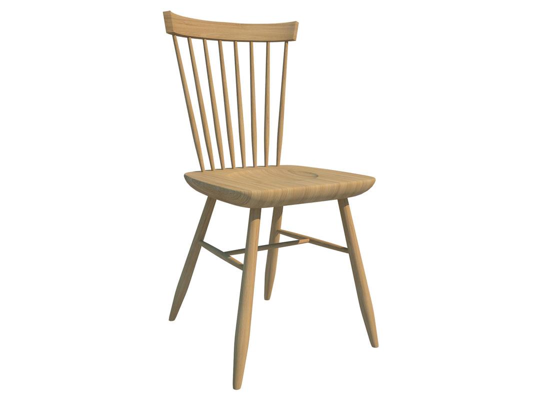 3d model windsor chair
