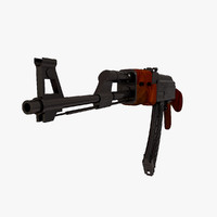 ak 47 weapon 3d 3ds