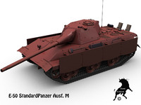3d standardpanzer e-50 model
