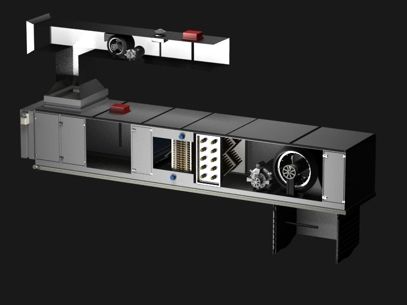 ahu air handling unit 3d model