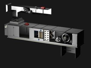 ahu air handling unit 3d model