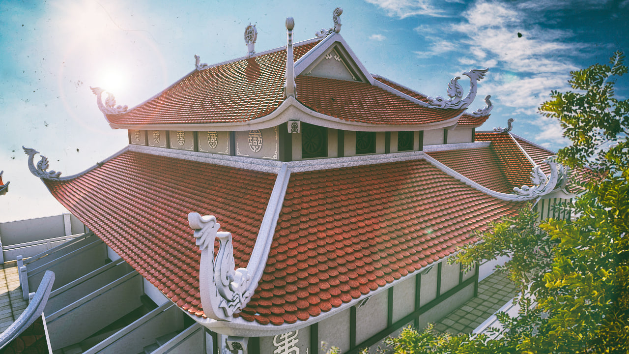 asia pagoda temple scence 3d max