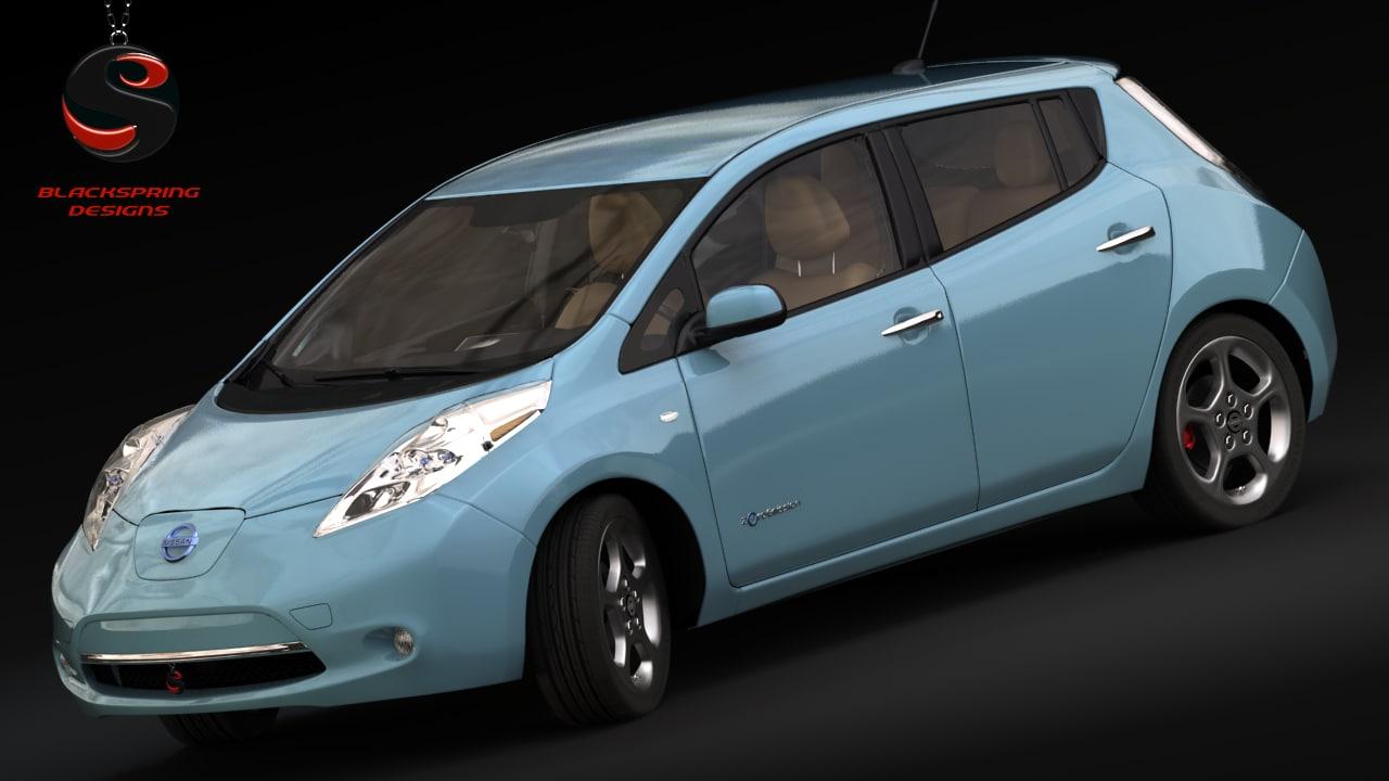 3d model nissan leaf 2014
