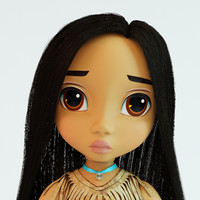3d pocahontas doll model