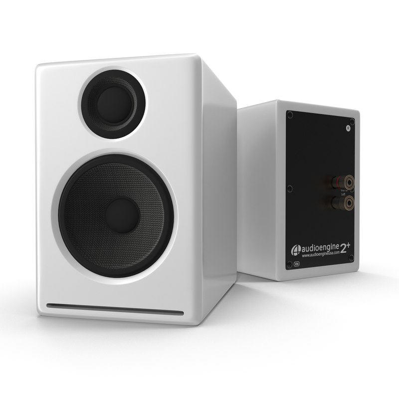 multimedia speakers audioengine a2 3d model