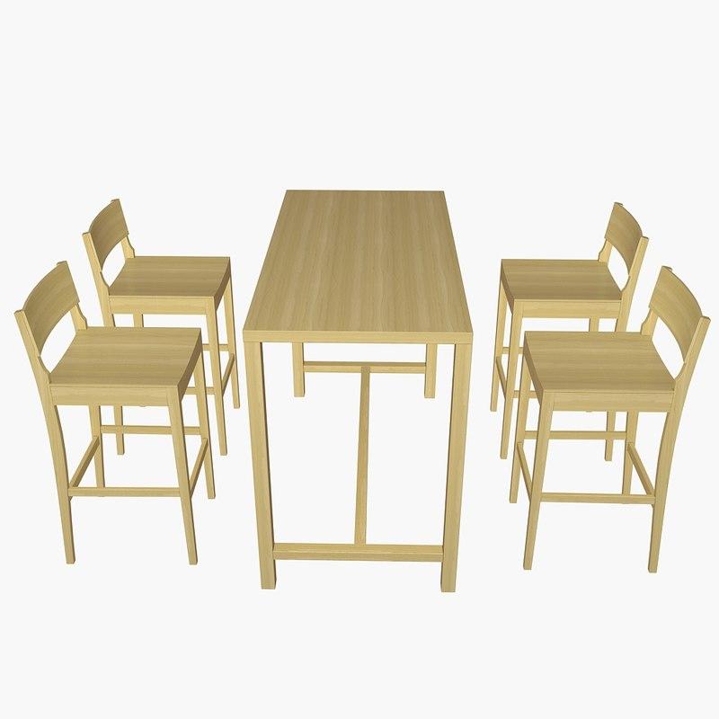 bar table set 3d model