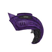 organic laser futuristic gun 3d 3ds