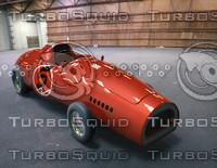 3d model retro sport car