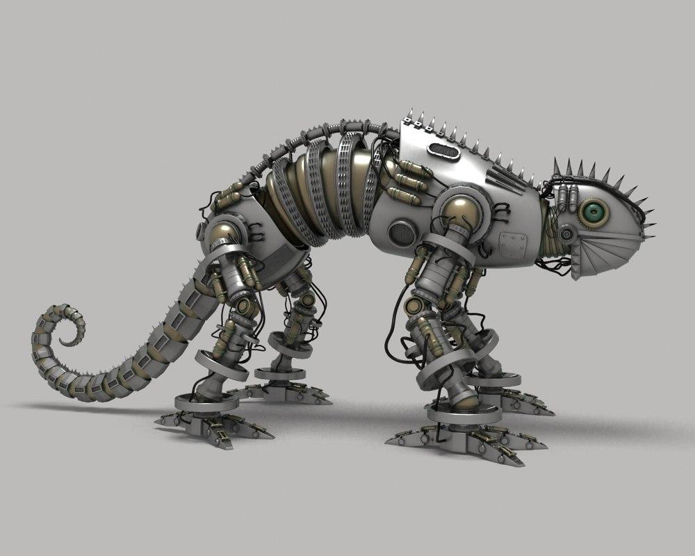 3d model mech lizard
