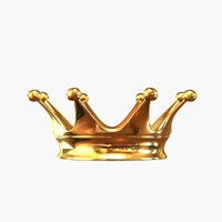 3d model golden crown