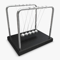 realistic newtons cradle 3ds