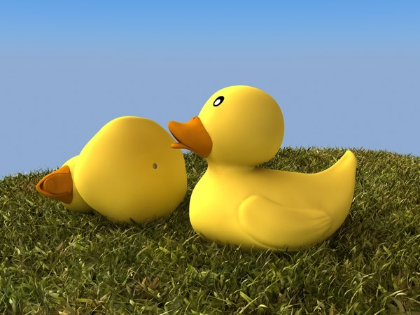 rubber duck cartoon grass max