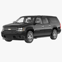3d 3ds chevrolet suburban 2014 simple