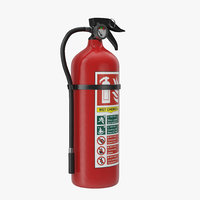 3d model extinguisher 2