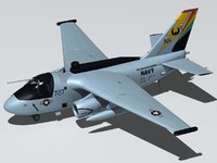 lockheed s-3 es-3a shadow 3d max