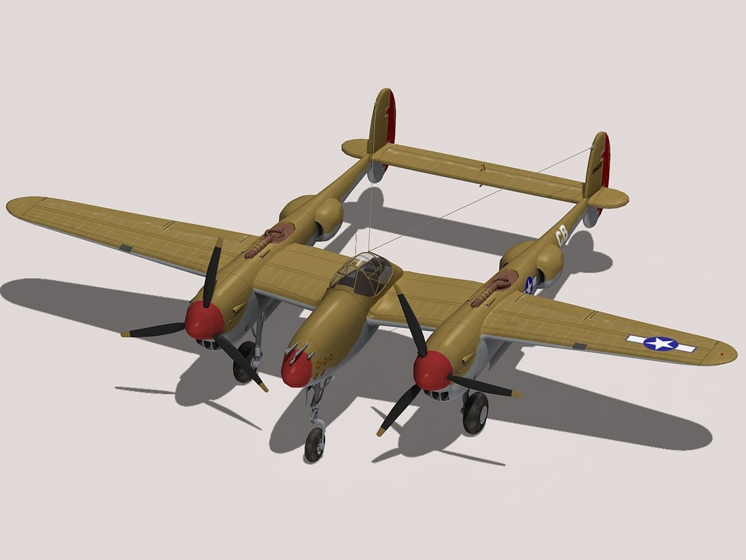 3ds max lockheed p-38 lightning
